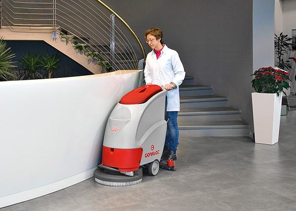 意大利高美L 20 B 电瓶驱动手推式全自动洗地机商场超市医院 COMAC洗地机