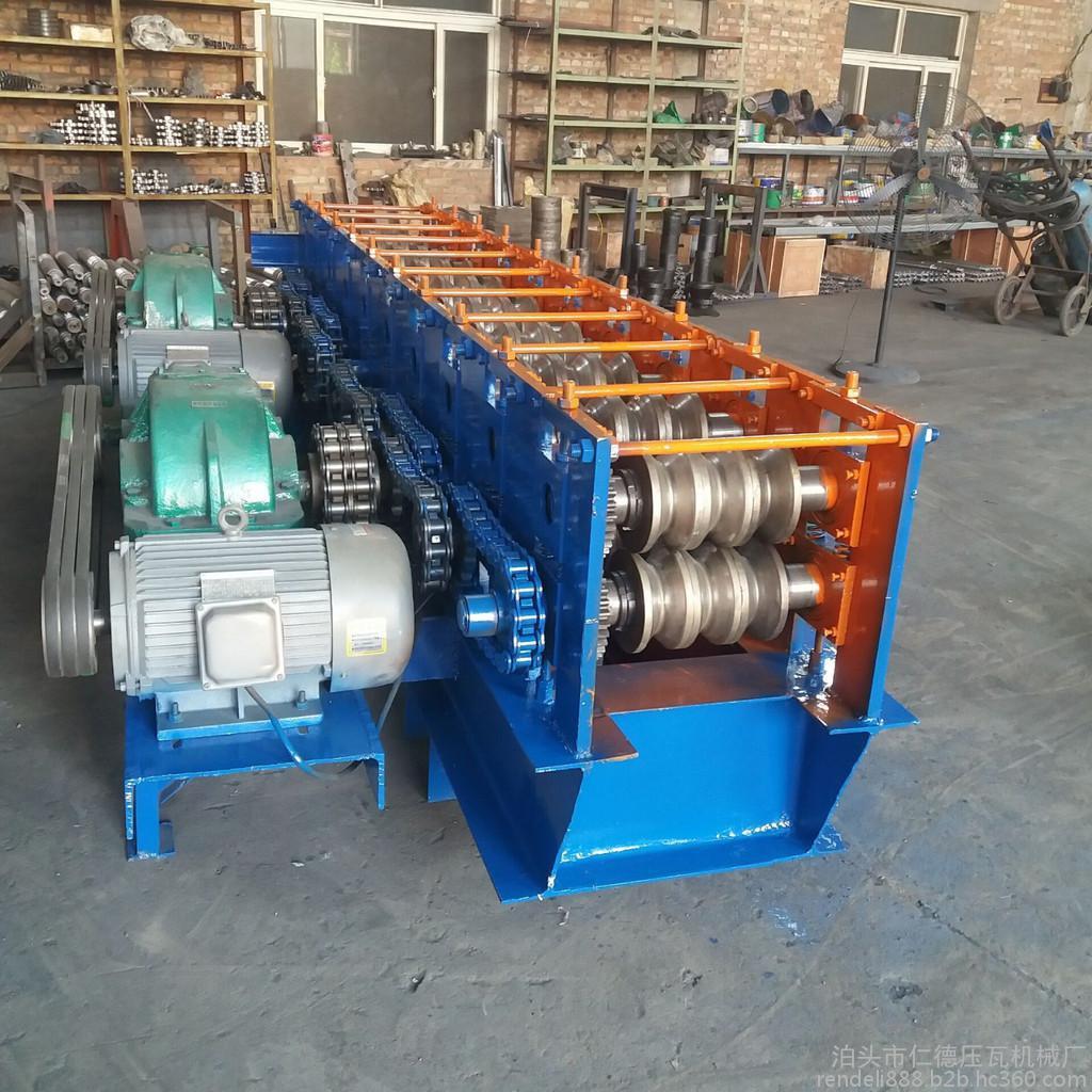 仁德48架子管圆管变方管机设备 旧圆管压方管机